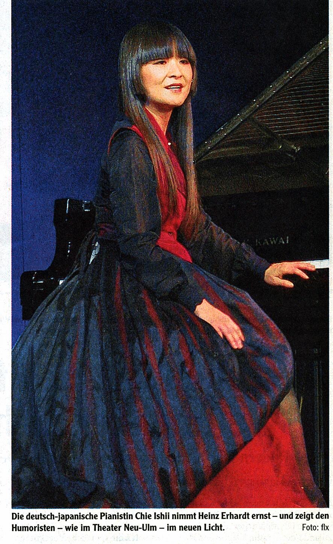 Theater Neu Ulm Japanische Top Pianistin Chie Ishii Mit